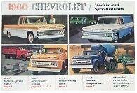 1960 60 Chevy Chevrolet pickup truck sales brochure