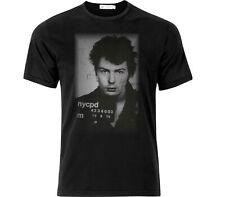 Sid Vicious Distressed Police Mugshot T Shirt Black