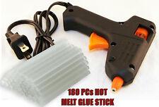 Hot Melt Mini Glue Gun~180 Mini Clear Glue Sticks for Arts Craft UL LISTED Black