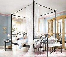 Himmelbett schwarz 180x200 Himmel Bett Metallbett romantisch Ehebett Doppelbett