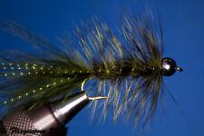 Fliegentom Streamer 3 pieces Wooleybugger with Beadhead dark olive