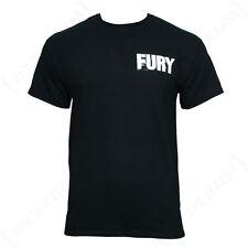 FURY Película Camiseta - Todas Las Tallas Negro 100% Algodón Logo Top