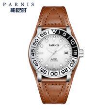 42mm Parnis Men Watch Miyota Automatic 21 Jewels Luminous Mark Sapphire Crystal