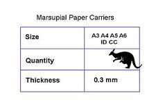 A3 A4 A5 A6 ID CC laminazione sacchetto vettori PAPER Sheet marsupial BUSTE