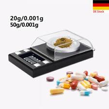 1×Tragbare Digitale 1mg Waage Gewicht 0.001g Hochpräzise Elektronische Waage NEU