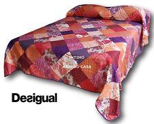DESIGUAL Couvre-lit ROMANTIC écusson II 67LL0A3 100% Coton Double, Lit 2 places