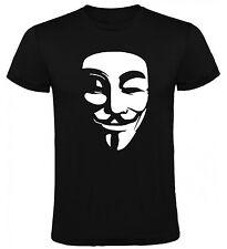 Camiseta V de Vendetta Anonymous Hombre varias tallas