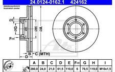 ATE Bremssatz 2 Bremsscheiben Vorne 280mm belüftet Für OPEL 24.0124-0162.1