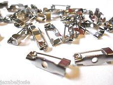 50 ou 100 16 x 5 mm silver tone broche bijoux de dos
