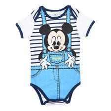 DISNEY BABY body MICKEY 3 6 12 18 ou 24 mois bleu salopette NEUF 22e6bd832af