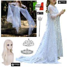 accessori congelato vestito Vestito Frozen Fever COSTUME Carnevale Elsa