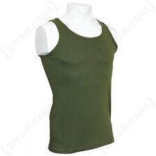 Verde Oliva Camiseta sin mangas-Militar Ejército Combate De Algodón Para hombre Chaleco sin Mangas