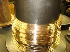 24k SOLID GOLD ROUND WIRE HALF HARD 20-30 GAUGE 1 FOOT