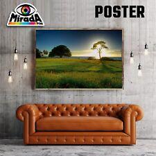 POSTER PAESAGGIO LANDSCAPE NATURA PRATO SOLE CARTA FOTOGRAFICA35x50 50x70 70x100
