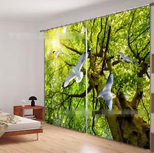 3D Dove Bäume 352 Blockade Foto Vorhang Druckvorhang Vorhänge Stoff Fenster DE