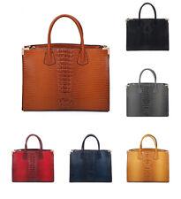 Women Multi Section Stylish Snake Skin Handbag Tote Hobo Shopper Shoulder Bag