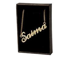 SAIMA Collar Con Nombre 18 CT Chapado En Oro Swarovski Elementos Cumpleaños Moda