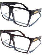 Large OVERSIZE Big WOMEN'S EYE GLASSES Clear Lens Retro Fashion Design NEW