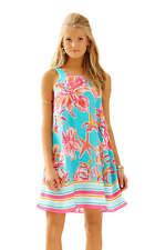 $228 Lilly Pulitzer WRIGHT Sea Blue Via Sunny Engineered Wright Trapeze Dress