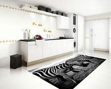 3D Zebras Fight 3 Kitchen Mat Floor Murals Wall Print Wall Deco AJ WALLPAPER CA