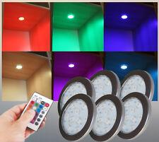 RGB LED Unterbauleuchten Set Trafo Schrank Vitrinenleuchte Möbelbeleuchtung#2124