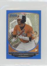 2013 Bowman Chrome Minis Blue Refractor #254 Josh Hart Baltimore Orioles Card