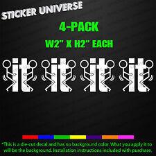 F*ck-It Tag Team Mini 4-PACK Funny Tumbler Phone Decal Sticker JDM F*ck-It 0641