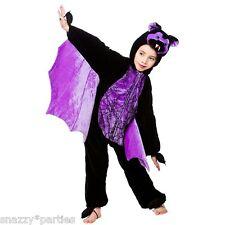 Child SCARY BAT Fancy Dress Halloween Fleece Onsie Costume Book Week Age 3-8