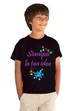 T Shirt Bambino Bambina da Personalizzare Maglietta da Stampare Idea Regalo 3-11