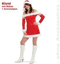 Nicola Weihnachtsfrau Kostüm 36-42 Weihnachtskleid Kleid 1211678G13