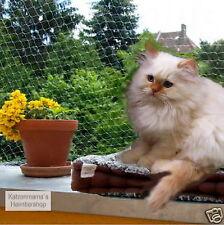 Katzenschutznetz Balkonnetz Katzennetz transparent, 2 Meter hoch, Länge wählbar