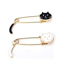Broche noir blanc chats huile goutte exquis broches bijoux de mode