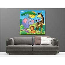 Gemälde leinen deko quadratisch safari 91864895