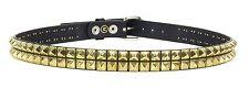 Studded Double Row Gold Stud Leather Belt Punk, Metal,Thrash, UK Style, Rock
