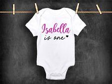 Chaleco de Body Bebé Primer Cumpleaños Personalizado 1st Regalo ropa traje de un año