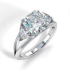 Fashion Women 925 Silver Ring Princess Cut White Sapphire Wedding Ring Size 6-10