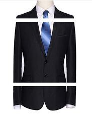Elegante abito vestito completo uomo nero gessato giacca pantalone  SLIM 1013
