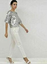 61ec441b2c1b3c NWT  80 Designer ASOS Oversized Pailette Disc Sequin T Shirt TOP UK 6 8 10  12