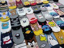 Korean Character Socks for Women 3,5,7,10,15Pairs Random Shipping, Made in Korea
