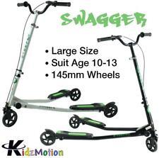 Kidzmotion Swagger 3 wheel swing scooter speeder drifter large (10-13yr) white