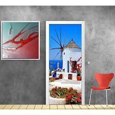 Affiche poster pour porte - Moulin à vent 708 Art déco Stickers