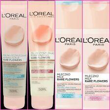 L'Oreal Paris RARE FLOWERS Gel Face Wash / Scrub / Milk Make Up Remover