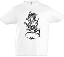 Tribal Chinese Dragon I Boys T-Shirt China Symbol Sign Tattoo Knot