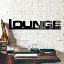 Acrylglas Acrylbuchstaben Lounge + 9 Klebepads schwarz
