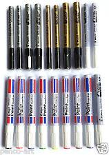 Piloto Pintura marcadores Oro Plata Blanco Negro Colores Fino Mediano amplio Extra Fino