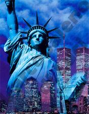 CALAMITA PVC RIGIDO NEW YORK STATUA LIBERTà TORRI GEMELLE MAGNET MAGNETE FRIGOR!