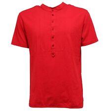 7785T maglia uomo GREY DANIELE ALESSANDRINI rosso t-shirt cotton man