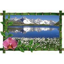 Sticker Bambou déco lac montagne 990