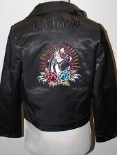 ED HARDY BY CHRISTIAN AUDIGIER PANTHER MOTO BIKER  COAT JACKET SIZE XS $249