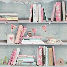 CURIOUS BOOKSHELVES WALLPAPER - 694000 ARTHOUSE - BOOKS BOOKSHELF